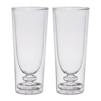 Double Walled Cocktail Glasses - Set of 2 - Flute