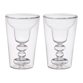 Double Walled Cocktail Glasses - Set of 2