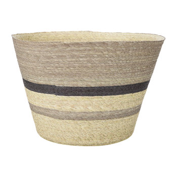 Cone Basket - Multi Stripe - Brown