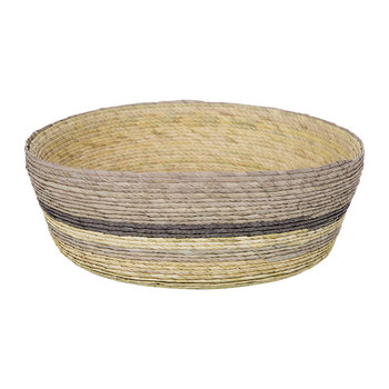 Round Stripe Basket - Brown