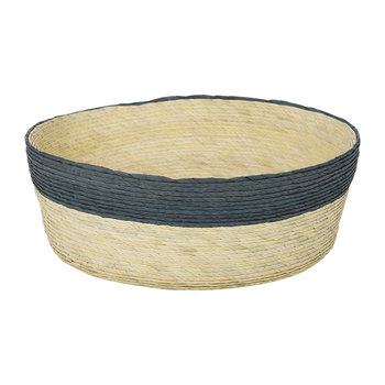 Round Stripe Basket - Navy