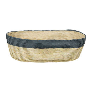 Oval Stripe Basket - Navy