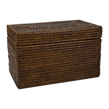 Rectangular Lidded Basket - Teak