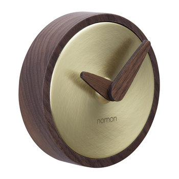 Atomo Wall Clock - Walnut/Gold