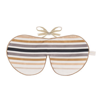 Limited Edition Eye Mask - Satin Gold Stripe