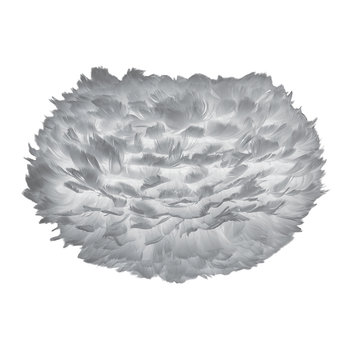 Eos Feather Lamp Shade - Grey - Medium