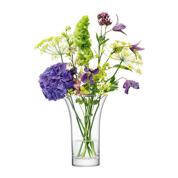 Flower Flared Bouquet Vase - Blown Glass