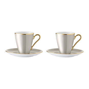 Sorbet Coffee Cup & Saucer - Set of 2 - Liquorice