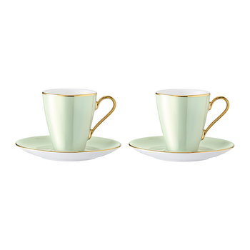 Sorbet Coffee Cup & Saucer - Set of 2 - Melon