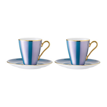 Sorbet Coffee Cup & Saucer - Set of 2 - Spearmint