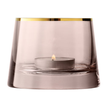 Sorbet Glass Tealight Holder - Cinnamon