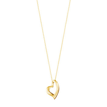 Regitze Heart Pendant Necklace - Yellow Gold