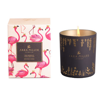Printed Glass Soy Wax Candle - 240g - Grapefruit, Tonca & Yuzu