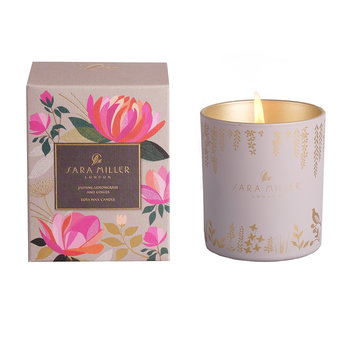 Printed Glass Soy Wax Candle - 240g - Jasmine, Lemongrass & Ginger