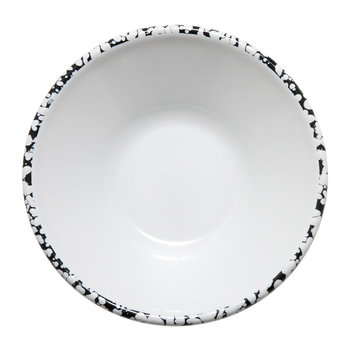 Monochrome Bowl - Black/White - Patterned Rim