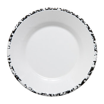 Monochrome Small Plate - Black/White - Patterned Rim