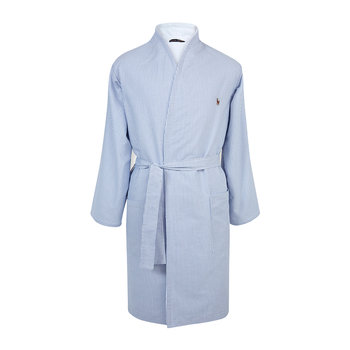 Men's Oxford Bathrobe - Blue