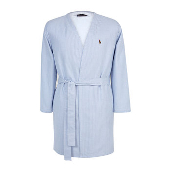 Women's Oxford Bathrobe - Blue
