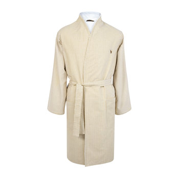 Men's Oxford Bathrobe - Sand