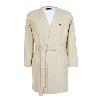 Women's Oxford Bathrobe - Sand