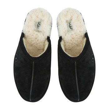 Men's Suede Scuff Slippers - Black
