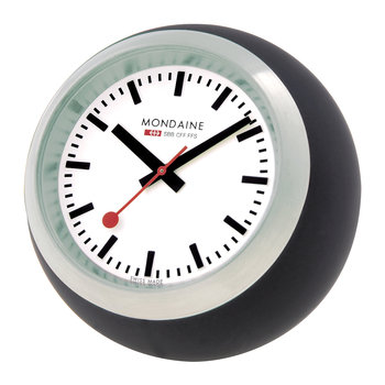 Globe Desk Clock - Black