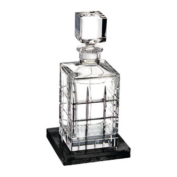 Cluin Square Decanter with Marble Coaster