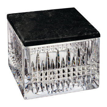 Lismore Crystal Box with Marble Lid - Diamond