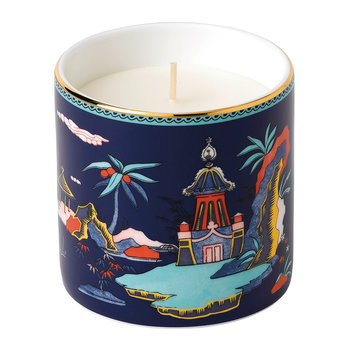 Wonderlust Scented Candle - Blue Pagoda - Lotus & White Jasmine