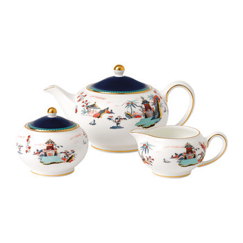 Wonderlust Teapot, Sugar & Cream Set