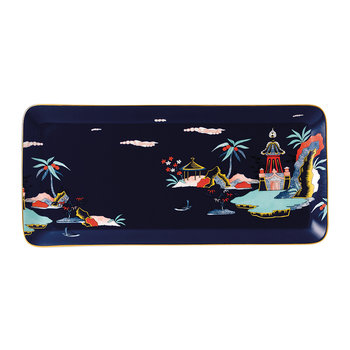 Wonderlust Sandwich Tray - Blue Pagoda