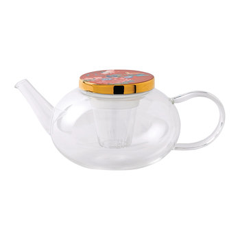 Paeonia Glass Teapot