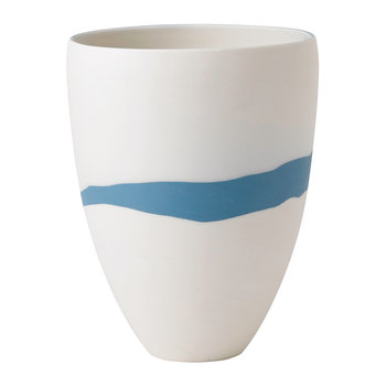 Pebble Jasperware Coupe Vase - Blau/Weiß