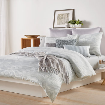 Marble Duvet Cover - Grey