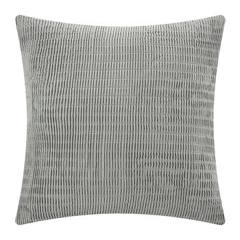 Soho Grid Decorative Bed Pillow - Gray - 65x65cm