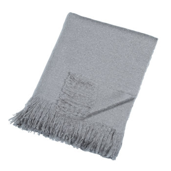 Mohair Look Throw - Grey