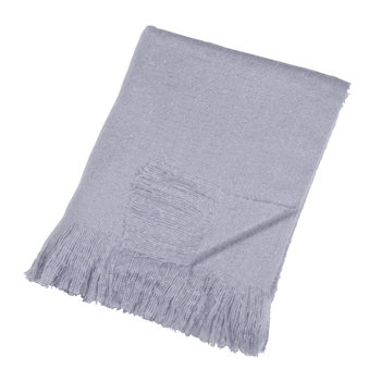Mohair Look Throw - Purple
