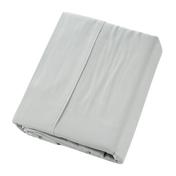 Plain Dye Flat Sheet - Platinum - Super King