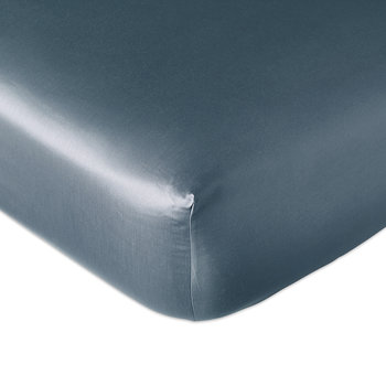 Plain Dye Fitted Sheet - Slate