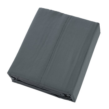 Plain Dye Flat Sheet - Slate - Super King