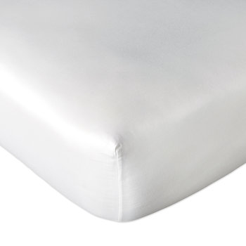 Plain Dye Fitted Sheet - White