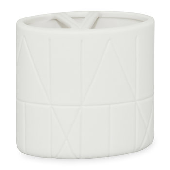 Geometrix Toothbrush Holder - White