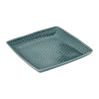 Dansu Textured Serving Plate - Square - Eucalyptus