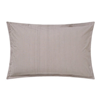 Ticking Stripe Oxford Pillowcase - Charcoal & Linen
