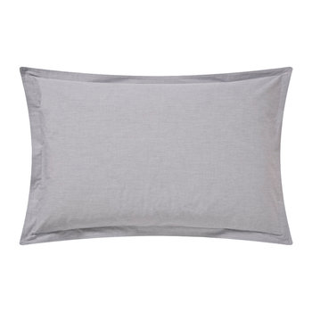 Chambray Oxford Pillowcase - Dove Grey