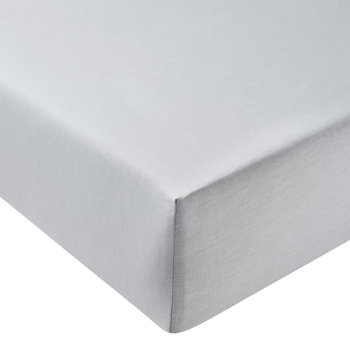 Chambray Fitted Sheet - Dove Grey