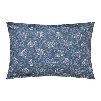 Kiku Oxford Pillowcase - Copenhagen Blue