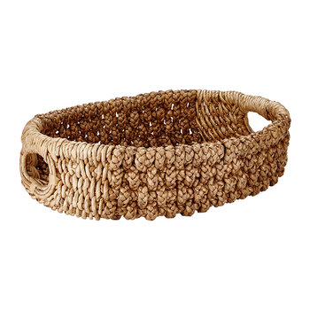 Water Hyacinth & Banana Rope Storage Basket