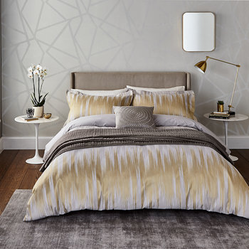 Motion Duvet Cover - Ochre