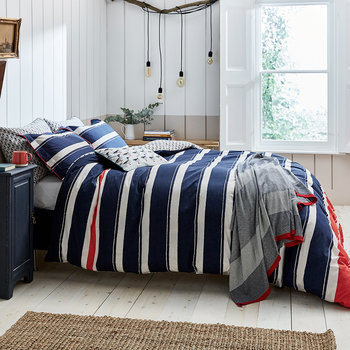 Galley Grade Stripe Duvet Cover - Navy